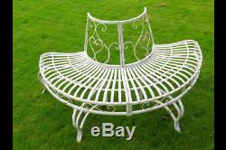 1/2 Tree bench French Shabby Chic Vintage Style aged Garden Bench Seat