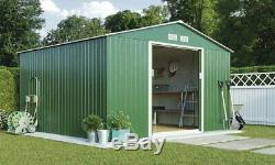10X9FT Metal Garden Shed Outdoor Storage House Tool Sheds with Free wX