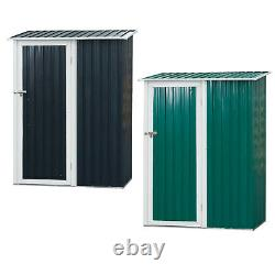 186x143cm Corrugated Steel Garden Shed Outdoor Equipment Storage Sloped Roof