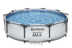 21in1 BestWay SWIMMING POOL 366cm 12FT Garden Round Frame Pool + PUMP + LADDER