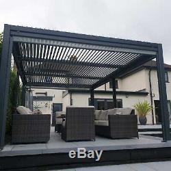 3.6 X 5.4 Vented Roof Solid Gazebo, Hot Tub Canopy, Permanent Garden Gazebo