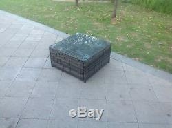 3 Seater rattan corner sofa set coffee table outdoor garden furniture Mix Grey
