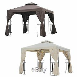 3 x 3M Metal Gazebo Garden Marquee Patio Tent Pavilion Canopy Sun Shade Shelter