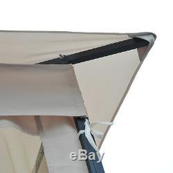3 x 3M Metal Gazebo Pavilion Garden Party Tent Shelter 2-Tier Sun Shade Patio
