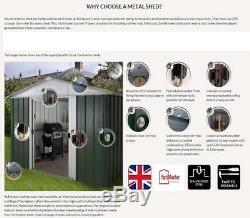 359 Yardmaster Pent Metal Garden Shed Maximum External Size 7'10 W x 3'11 D