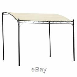 3M Outdoor Gazebo Canopy Shelter Patio Garden Pavilion Awning Fabric Cream White