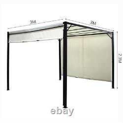 3M Outdoor Pergola Metal Gazebo Patio Garden Sun Shade Shelter Adjustable Canopy