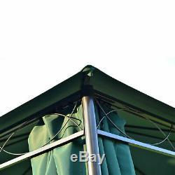 3m x 3m Metal Garden Gazebo Marquee Party Tent Patio Canopy Pavilion + Sidewalls