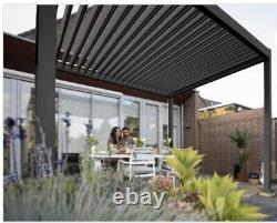 3m x 3m Vented Roof Solid Gazebo, Hot Tub Canopy, Permanent Solid Garden Gazebo
