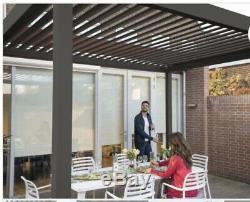 3m x 4m Vented Roof Solid Gazebo, Hot Tub Canopy, Permanent Solid Garden Gazebo