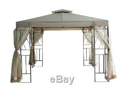 3x3M Metal Gazebo Pavilion Garden Canopy Sun Shade Shelter Gathering Marquee