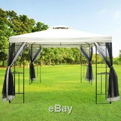 3x3m Garden Outdoor Gazebo Awning Sun Shade Pavilion Canopy with Mosquito Net