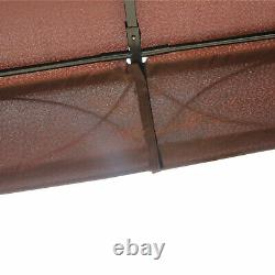 3x4M Garden Metal Gazebo Marquee Patio Party Tent Canopy Shelter with 2-tiers Roof