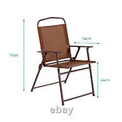 4 Seater Bistro Set Garden Furniture Patio Bistro Round Table Chairs With Parasol