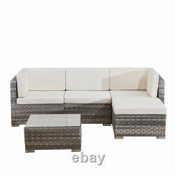 4 seats outdoor sofa rattan garden furniture set Grey CANNES