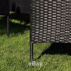 4PCS Rattan Garden Furniture Set Table Chair Sofa Table Outdoor Patio Set Yard