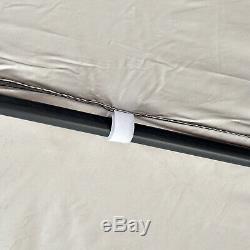 4x4m Garden Gazebo Tent Outdoor Metal Adjustable Sunshade with Zippered Net
