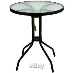 5 Piece Bistro Set Garden Patio Tan Wicker Rattan Outdoor Furniture Table Chairs