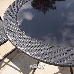 5pc Garden Patio Rattan Furniture Set Outdoor Dining Set Folding Chairs Wicker