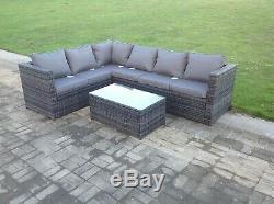 6 seater rattan sofa coffee table set outdoor garden furniture patio furniture