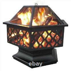 61cm Outdoor Iron Fire Bowl Pit Garden/BackyardBBQ/Camping Bonfire Patio Heater