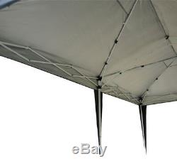 6m x 3m Black Garden Heavy Duty Pop Up Gazebo Marquee Party Tent Wedding Canopy