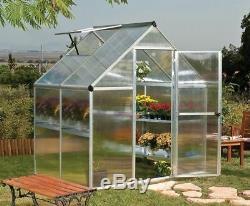 6x4 PALRAM MYTHOS GREENHOUSE ALUMINIUM GLASSHOUSE METAL GREEN HOUSE GARDEN PLANT