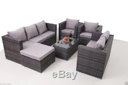 8 Seater New Rattan Garden Furniture Set Sofa Table Chairs Patio Conservatory