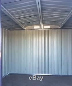 8 x 6 Outdoor Storage Metal Garden Shed Anthracite Galvanized Plate + Steel Base