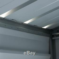 8x6 METAL GARDEN YARDMASTER SHED 8ft x 6ft APEX STEEL STORAGE BROWN WOOD EFFECT