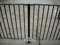 9 meters of new wrought iron railings, metal garden fence, including posts