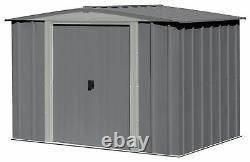 Arrow Steel Garden Shed Dark Grey 2 Tone 8x6ft