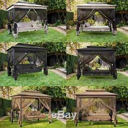 BIRCHTREE Garden Swing Hammock 3-4 Seater Chair Bench Bed Gazebo Shelter SB04