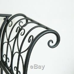 BIRCHTREE Patio Outdoor 2/3 Seater Garden Bench Metal Ornate Vintage MGB01 Black