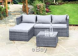 BRAND NEW Grey 5 Seater Corner Sofa Conservatory / Garden Furniture