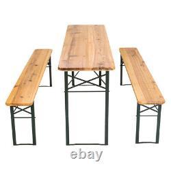 Beer Party Table Set Outdoor Folding Garden Beer Bench Beer Table Wooden new