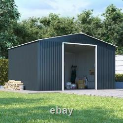 BillyOh Partner Metal Garden Shed Apex Roof Heavy Duty Galvanised Steel Storage
