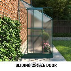 BillyOh Polycarbonate Aluminium Metal Frame Lean-To Garden Plant Grow Greenhouse