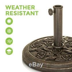 Cast Iron Round Umbrella Parasol Base Stand Patio Outdoor Garden Heavy Duty 9kg