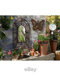 Classic Antique Garden Pergola Mirror Home Outdoor Decor Rustic Frame Metal NEW