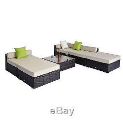 Deluxe Garden Patio Rattan Home Furniture Wicker Conservatory Corner Sofa Set
