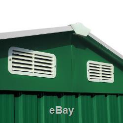 Deuba Garden Metal Tool Shed Galvanised Roofed Outdoor Storage Container 7x4ft