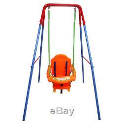 Folding Toddler Baby Outdoor Swing Safety Chair Set Kids Play Fun Garden Yard UK