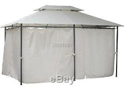 FoxHunter 3m x 4m x2.6m Garden Pavilion Gazebo Shelter Canopy Party Tent Marquee
