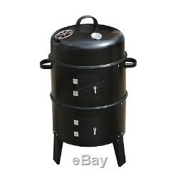 FoxHunter Black BBQ Charcoal Grill Barbecue Smoker Garden Outdoor Cooking Steel