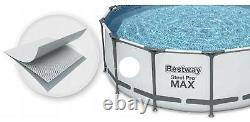 GARDEN SWIMMING POOL 305 cm 10FT Round Frame Above Ground Pool with PUMP SET