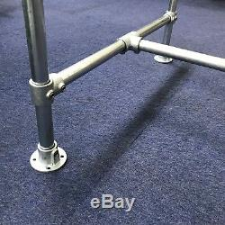 Galvanised Metal Pipe Table Base Industrial Dining Kitchen Garden Table Diy Bar