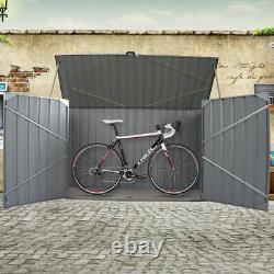 Galvanized Metal Large Storage Garden Shed Bike Unit Tools Bicycle Store
