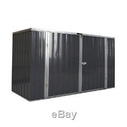 Galvanized Metal Steel Garden Bike Shed Tool Storage Shed Outdoor Bicycle Box