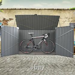 Galvanized Metal Steel Garden Bike Shed Tool Storage Shed Unit House Bicycle Box